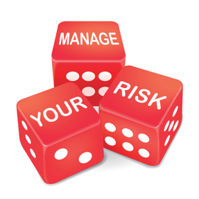 Dice that say Manage Your Risk