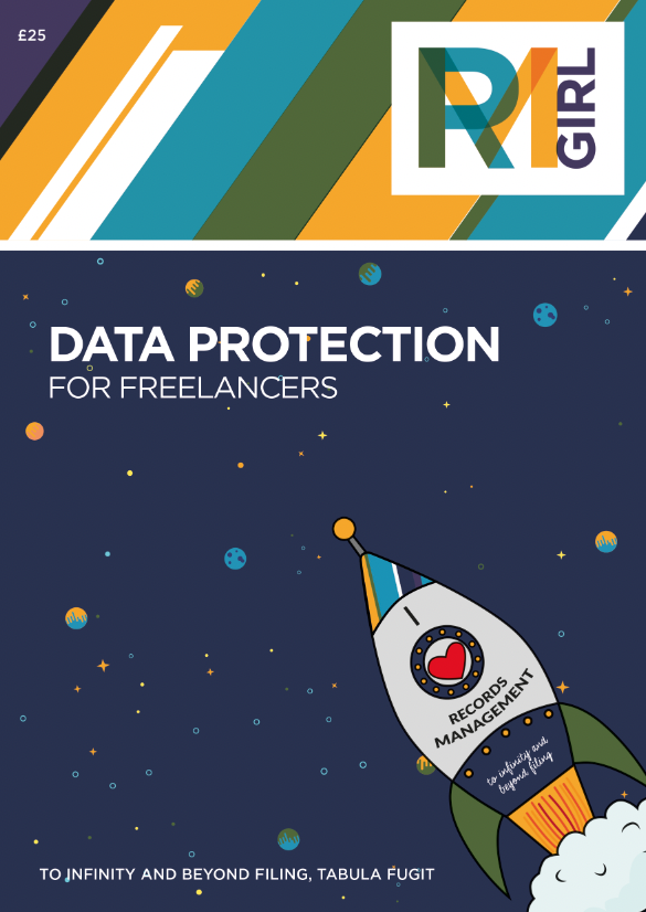 "Freelancers Guide Front Page - Says ""Data Protection for Freelancers - £25 - RMGirl"""