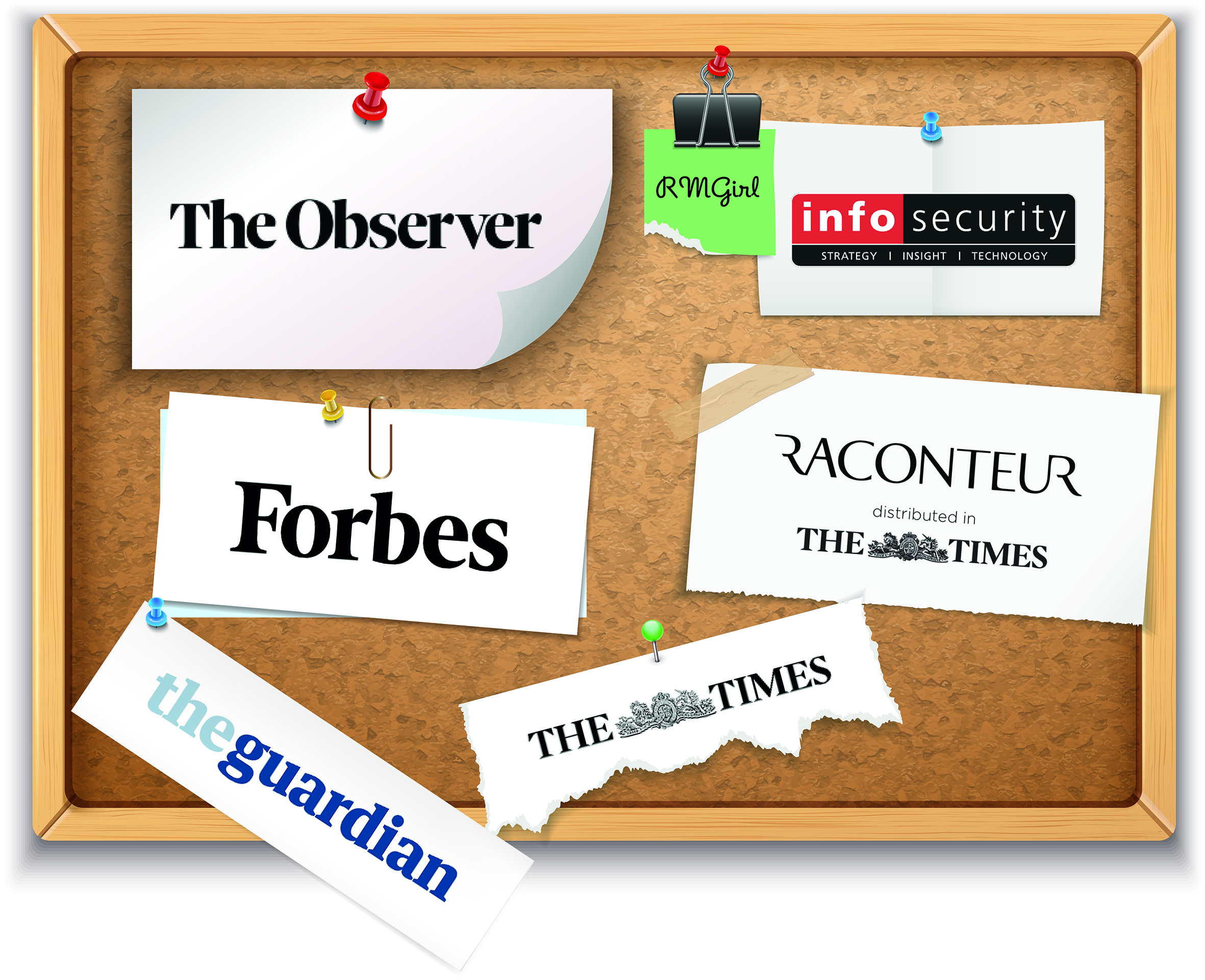 The Observer, Info Security Europe, Forbes, Raconteur, The Times, The Guardian