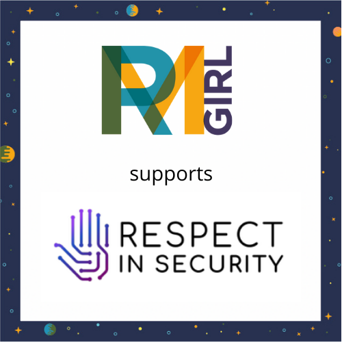 Respect in Security is supported by RMGirl image of logos and the words 'supports'